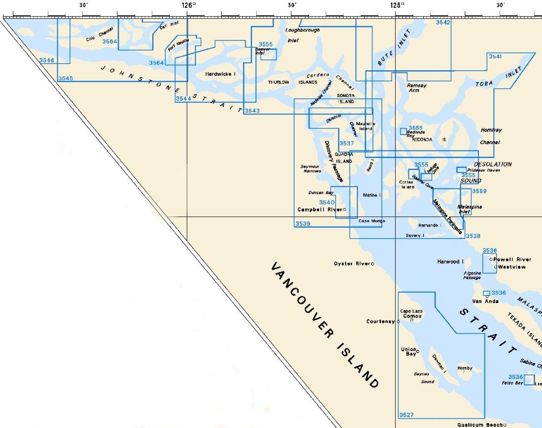 Nautical Charts For North Vancouver Island British Columbia