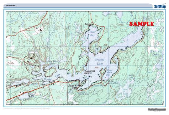 Ontario Topographic Map.Custom Topographic Maps