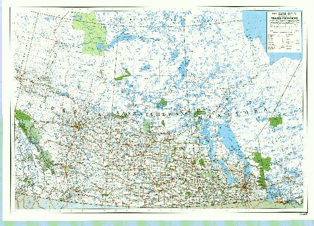 Maps of Alberta, Saskatchewan, Manitoba - Images