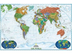 Maps Of The World - World decorator map