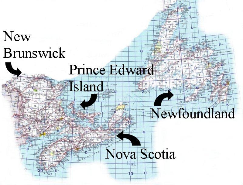 Topographic Map Index Atlantic Provinces